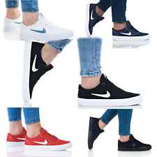 Nike SB Charge Authentic Women's Trainers Lace up Leather Casual Shoes