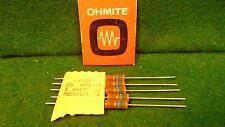 (1) 5 Pack Ohmite Carbon Comp 15 Meg Ohm 1 Watt 5% Resistors Nos