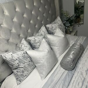 """Luxury Cushion Cover 18"""" Mellow Designer Fabric Marble Effect Grey Silver"""