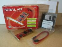 Vantec Serial ATA PCI Host Card in Box w Cables & Software - NEW Open Box