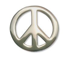 Peace Sign Jacket or Hat Pin Polished Silver Finish Pewter P-71