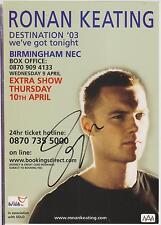 RONAN KEATING  (Boyzone) - Genuine Signed Autograph  - AFTAL REGISTERED DEALER
