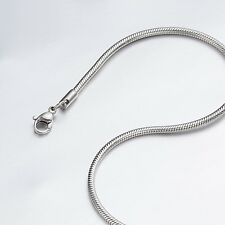 "1.2mm 16""-40"" Silver Stainless Steel Snake Necklace Chain Sb36 USA Seller"
