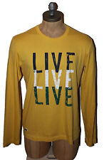 AUTH $65 Lacoste L!ve Men's Yellow Tee TH7765
