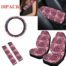 Car Seat Cover Steering Wheel Cover Seat Belt Armrest Pad 10PCS/Set