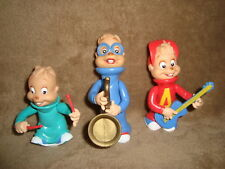 Alvin & the Chipmunks SIMON, THEODORE, ALVIN 1991 KFC Lot 3 pcs Plastic Figure