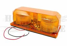 Amber Colored Permanent Mount Mini Strobe Light Bar Truck Trailer Hazard Alert