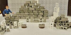 30 PIECES CONCRETE CINDER BLOCKS 1;24 SCALE DIORAMA (EACH 5/8'' x 5/8''x 1/4'')