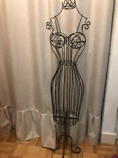Female Black Metal Steel Wire Mannequin Dress Form for Sewing or Display