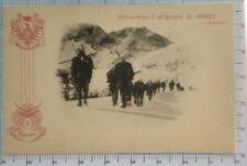 266) Cartolina Il 7 Reggimento Alpini attraverso l'altipiano di Razzo (Cadore)