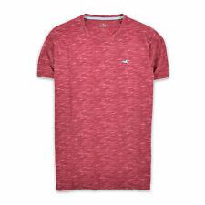Hollister California Herren T-Shirt Shirt Classic Gr.M Vintage Himbeer Rot 92274