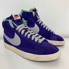 Nike Blazer Mid mens Vintage Street trainers Suede PURPLE/GREY Size UK 7 EUR 41