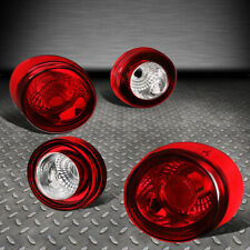FOR 05-10 CHEVY COBALT 2DR COUPE 4PCS CHROME/RED TAIL LIGHT BRAKE/PARKING LAMPS