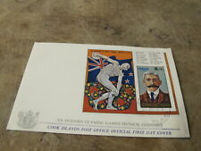 1972 First Day Cover FDC - Cook Islands - Munich Olympics mini sheet