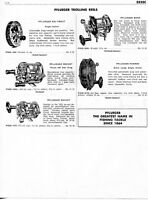 1958 Print Ad of Pflueger Trolling Fishing Reels Sal-Trou,t Rocket, Bond, Pakron