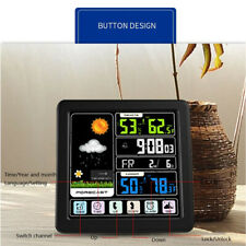 Wireless Weather Station Digital Thermometer Sensor Barometer Forecast LCD Time