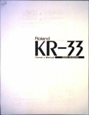 roland kr-33 electric piano masterkeyboard eigentümer benutzers betriebsanleitung