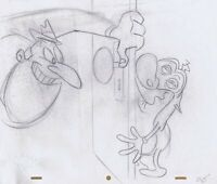 Ren & Stimpy Original 1990's Production Drawing Animation Art Salve