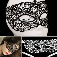 Fancy Women Sexy Black Lace Eye Mask Charm Masquerade Halloween Party Masks