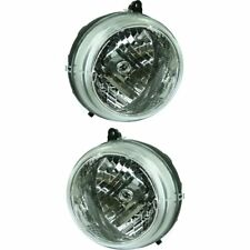 Headlight Set For 2002-2003 Jeep Liberty Driver and Passenger Side w/ bulb