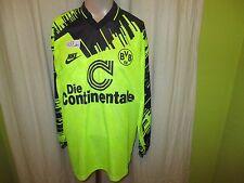 "Borussia dortmund nike manga larga Camiseta 1993/94 ""la continentale"" + firmado talla L"