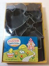 FOX RUN CRAFTSMAN EASTER COOKIE CUTTERS-BUNNY CHICK TULIP CHURCH