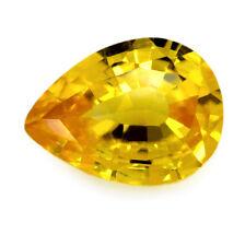 Certified Natural Ceylon Sapphire 0.64ct Yellow VVS Clarity Pear Sri Lanka Gem