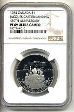 Canada Dollar;Jacques Cartier 1984,Nickel NGC PF 69 Ultra Cameo