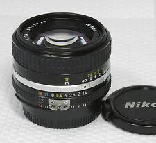 Nikon NIKKOR Ais Ai-s 50mm F1.4 MF Lens F Mount with cap【Exc++++】Japan Free ship