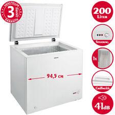 Gefriertruhe 200 Liter Tiefkühltruhe Gefrierschrank Gefriergerät 94,5 cm weiß