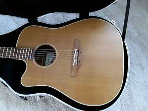 Left handed Takamine ean10cxlh acoustic guitar, made in japan.