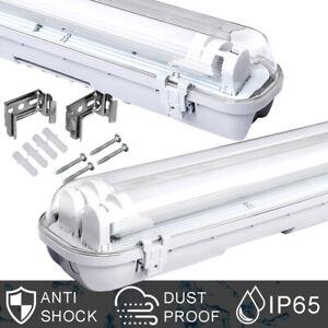 LED Feuchtraumleuchte Tube Keller Wannenleuchte außen Lamp 60/120/150cm