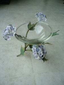 Hydrangea Fragrance Warmer Metal Stand Holds Tea Light To Activate the Scent