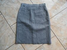 D2151 Markenlos Bleistift Woll Rock  36 Grau meliert Sehr gut