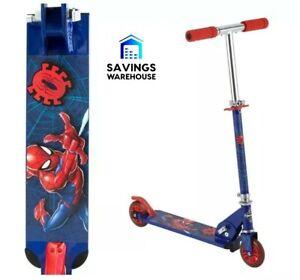 HUFFY Marvel® Spiderman Spider Man Kids Folding Inline Scooter Aluminium Frame