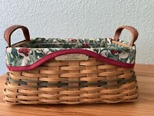 2002 Longaberger Christmas Collection Traditions Basket w/Liner, Protector