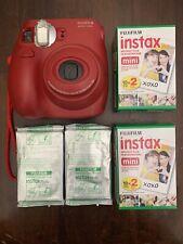Fujifilm Instax Mini 7s Red Camera Bonus Film Packs (6)