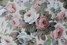 """SANDERSON CURTAIN FABRIC DESIGN """"Chelsea"""" 3.5 METRES 100% COTTON PINK AND BLUE"""