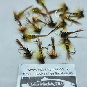 Trout Flies, 17 Mixed Pheasant Tail Crunchers, For Fly Fishing, Trout Wet Flies