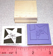 Stampin Up Holiday Blocks Stamp Single Star with a String Tied Teachers Good Job