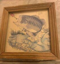 Vintage Miller Beer Fish Picture