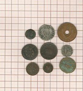 Paket Bis Arbeitszimmer! 9 Pièces-jetons-médailles, Billon + Bronze Antiker Alle