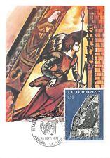 Carte Maximum FDC France RETABLE DE SAINT JEAN DE CASELLES 1972 Andorre n1