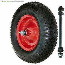 Schubkarrenrad 400 mm 4.00-8 2 PR Rad Räder Ersatzrad Luftrad Felge Schubkarre