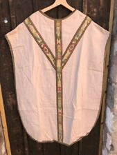 Antique St. Dustan Society Chasuble Church Vestment