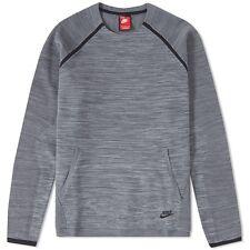 Nike TECH KNIT Girocollo Pullover Felpa Pullover Maglia Grigio Taglia M 728673 060