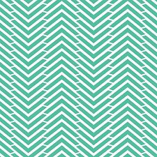 "Fabric Arrow Tribal Herringbone Turquoise on White Flannel 29"""