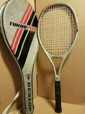 DUNLOP TURBO PLUS GRAPHITE FIBERS TENNIS RACKET  4 1/2 with bag and strap