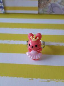 kawaii Pink Bunny Princess Adjustable ring *