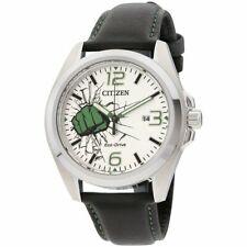 Citizen AW1431-24W The Hulk 45MM Men's Black Leather Watch